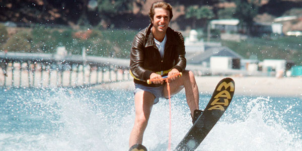 The Fonz (Henry Winkler) taking the plunge, literately and figuratively for Happy Days. Source: WhatCulture)